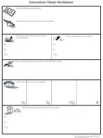 Innovation thesis worksheet