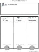 Target portfolio worksheet
